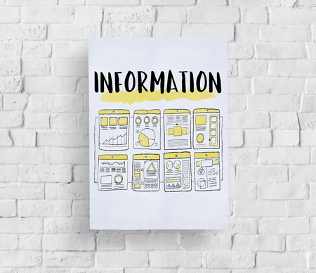 Information concept on a wall Banque d'images - 113533891