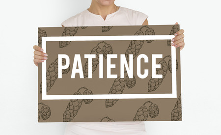 tolerate: Endurance Fortitude Patience Perseverance Positive Stock Photo