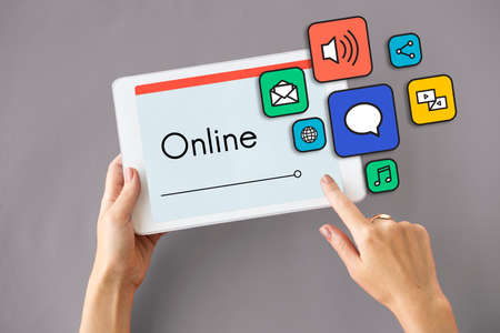media gadget: Get In Touch Connection Online Icon