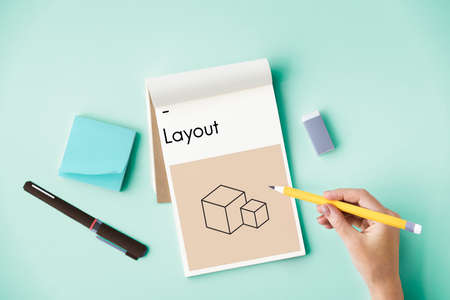 writing pad: Composition Layout Simulation Style Creative