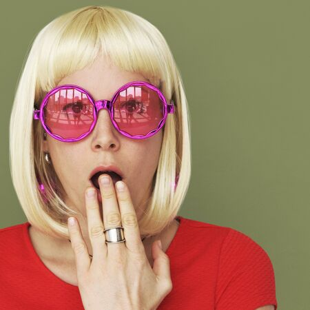adult oops: Wig Blonde Woman Oops Concept