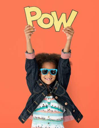 Little Kid Having Fun Portrait Stock Photo