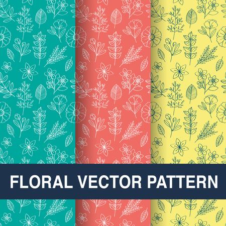 花のベクトル パターン設計図