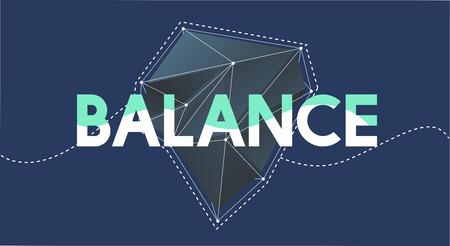 Balance Word Graphic Illustration Concept