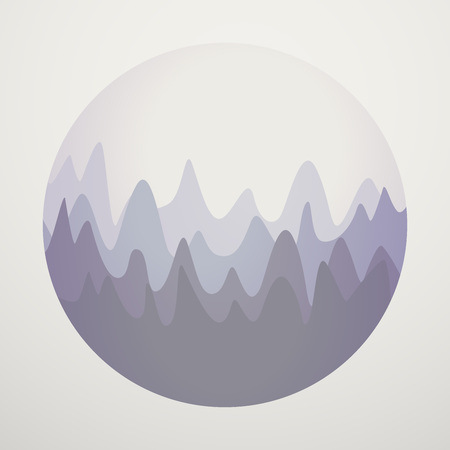Hills Mountains View Vector Illustration Concept