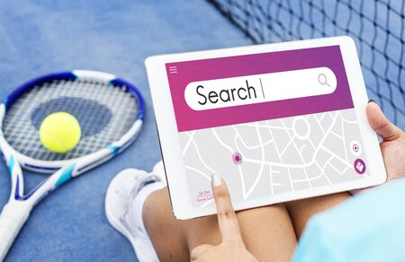 Search Engine Optimisation Finding Looking Concept Stock Photo
