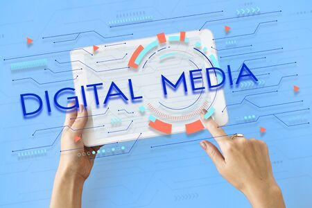media gadget: Digital Community Digital Social Media Icon