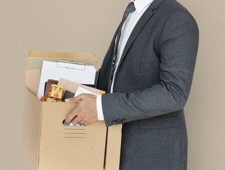ビジネス男性保持ボックスの概念