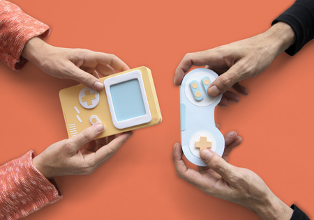 Two Person Playing Game Console