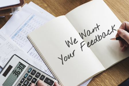 フィードバック顧客サービス応答コンセプトお問い合わせ 写真素材