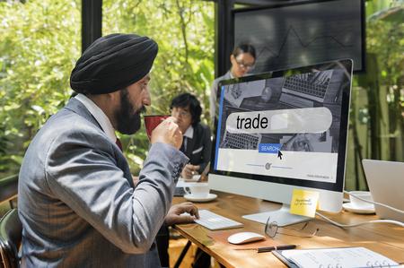 Stock Market Finance Business Concept Reklamní fotografie - 75903802