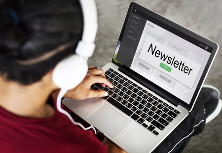 Newletter Join Us Sign Up Stock Photo