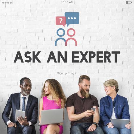 Ask An Expert After Sale Information Stock fotó