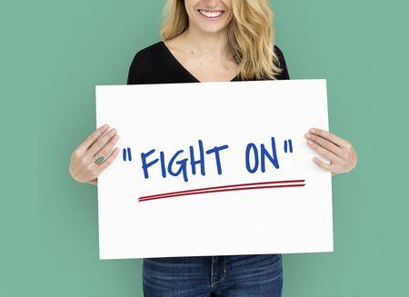 Keep Fighting Motivation Word Message