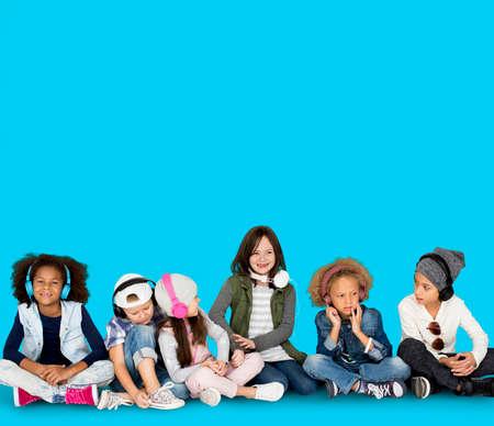 Studio People Model Shoot Kid Children Stock Photo