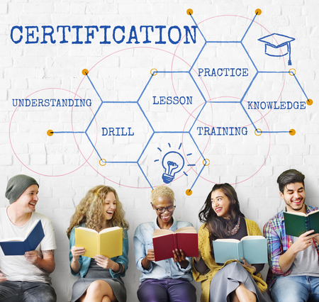 Education Academy Certification Curriculum Icon Stock Photo