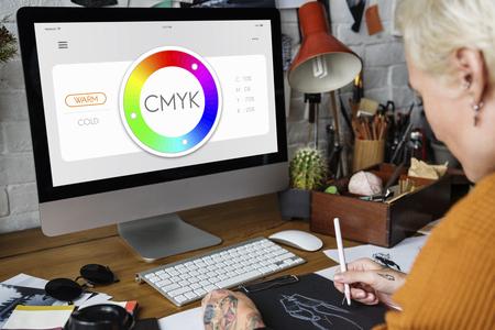 Colour CMYK Creativity Design Inspirational Stock Photo