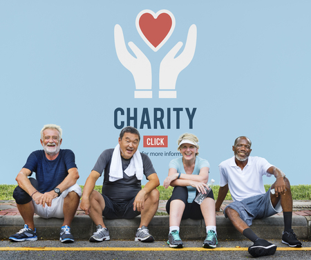 Charity Human Support Help Concept Stock Photo