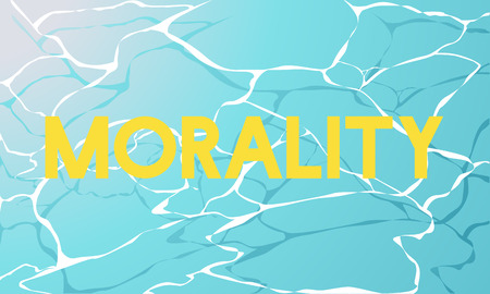 Morality Principle Virtueel Water Grafisch Woord Stockfoto