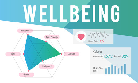 Graphic with wellbeing concept