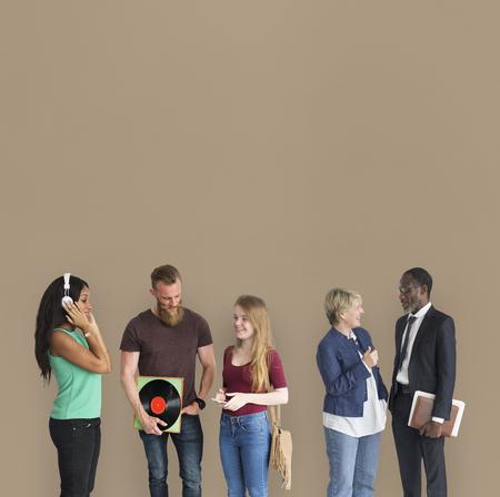 Different Lifestyle People Headphones Vinyl Business