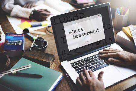 metadata: Computer Screen Data Management Word Window Popup Stock Photo
