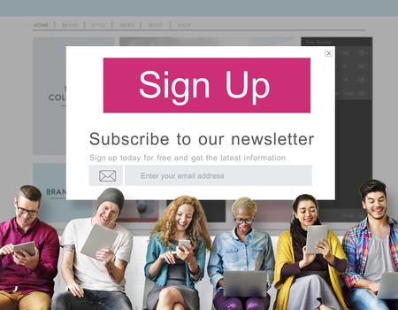 Join Us Registreer Nieuwsbrief Concept