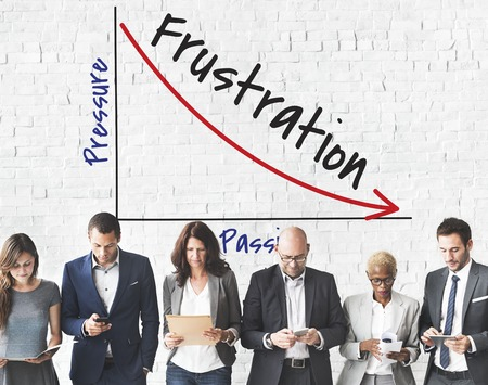 Business people with pressure and frustration concept Stock Photo - 113676575
