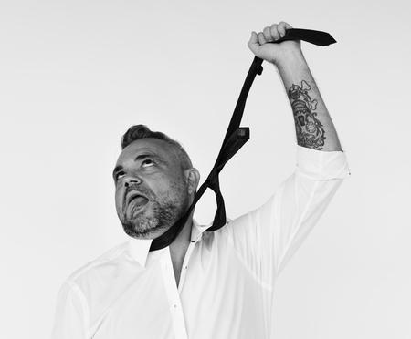 tired businessman: Studio Shoot People Portrait Concept Stock Photo
