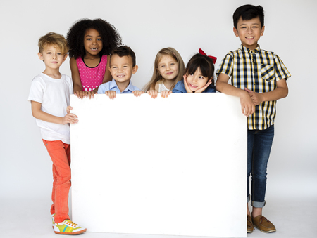多様性児バナー掲示板 写真素材