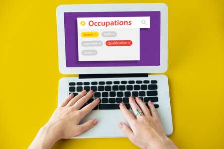 keyword: Recruitment employment search engine tags Stock Photo