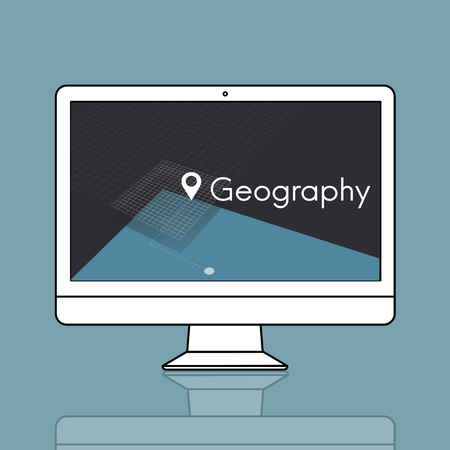 wanderlust: GPS location map travel graphic Stock Photo