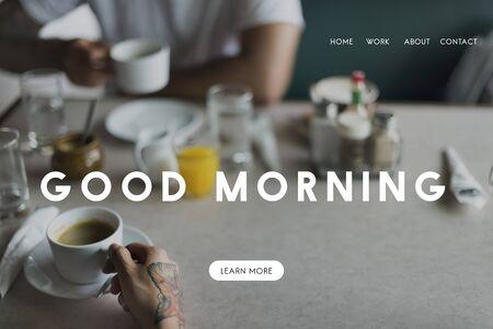 grabing: Good Morning Breakfast Coffee Relax Fresh