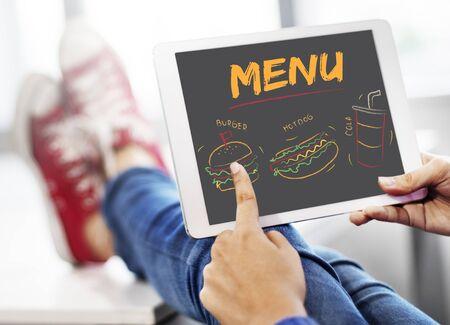 ハンバーガー ホットドッグ コーラ ファーストフードのメニュー