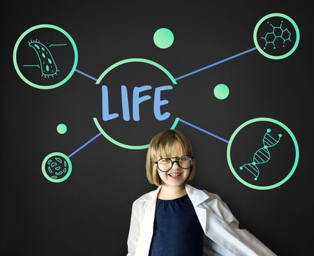 geeky: Science DNA Research Development Human Stock Photo