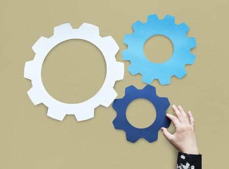 Gear Edit Setting Symbol Management Stock Photo