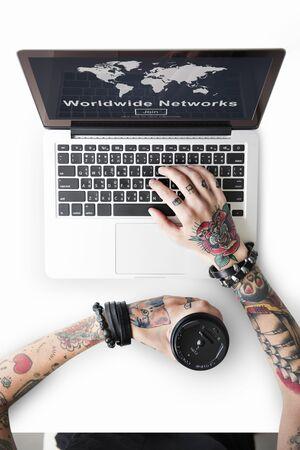 Worldwide Network Globalization Community Concept Reklamní fotografie