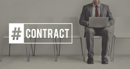 Business Contract Executive Goals Target Stock Photo