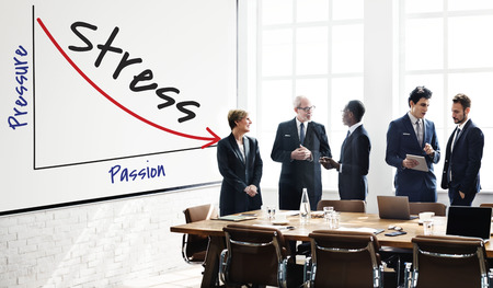 Business people with pressure and stress concept Stock Photo