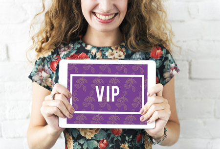 Superior Supreme VIP Membership Top Notched Foto de archivo