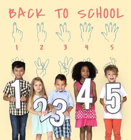 Back to School Education Hand Sign Communication Stok Fotoğraf - 76141493