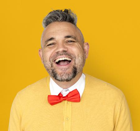 白人男の笑顔幸せな正