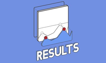 Graphic with results concept 版權商用圖片