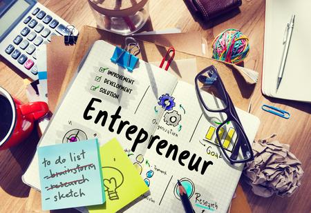 ビジネス プラン起業家投資図 写真素材