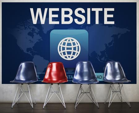 Website Global Worldwide Icon Concept Stock Photo