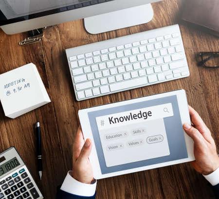 keyword: Education Skills Recruitment Word Search Stock Photo