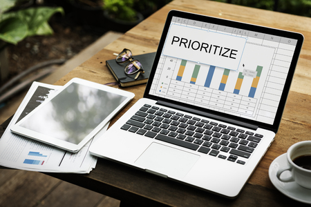 Prioritize Effectivity Important Rank Tasks Urgent Reklamní fotografie