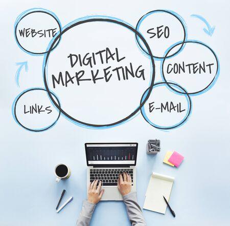 デジタル マーケティング ブランドの忠誠心グラフィックス 写真素材