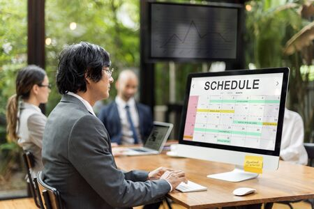 Schedule Table Event Planner Concept Stock Photo