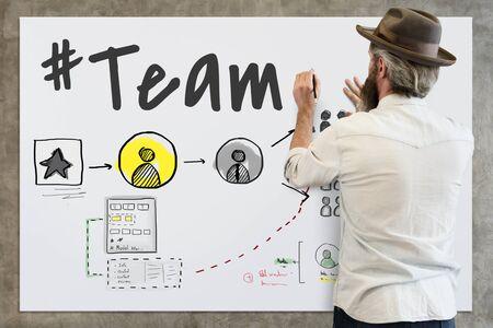 Teamwork Communication Feedback Goal Success Stok Fotoğraf